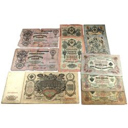 Estate Lot of Russia Roubles early 1900's nice mixture. 9pcs