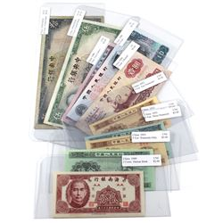 Lot of 1936-1980 China Banknotes VG-F to UNC (6 notes are UNC). 10pcs