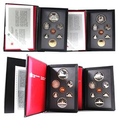 1986-1989 Canada Proof Double Dollar Sets in All Original Packaging (the Silver Dollars are lightly