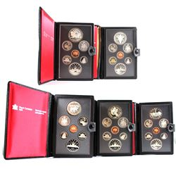 *1981-1985 Canada Proof Double Dollar Sets (the Silver Dollars and 1982 5-cent have toning & 1984 mi