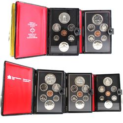 *1976-1980 Canada Double Dollar Sets (Silver Dollars may be toned & 1978 plastic is cracked on the b