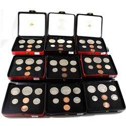 *Group Lot of 1971, 1972, 1973, 1974, 1977 & 1980 Canada Specimen Double Penny Sets - 1971, 3x 1972,