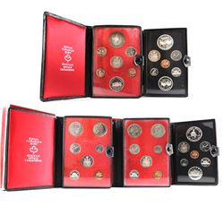 *1971-1975 Canada 6-coin Specimen Double Dollar Sets. 1971, 1972 & 1975 include sleeves (1972, 1973