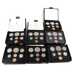 *1973-1979 Canada Specimen Double Penny Sets (some coins may be toned & 1977 missing COA). 7pcs