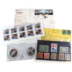 Stamps Canada, plus Post Card 1930's and FDC. 5pcs