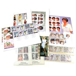 Princess Diana Stamps. Many different issues from Guyana, Togolaise, Great Britain, Turmenistan, Afr
