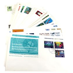 75 x First Day Cover Stamps issued by Canada Post. Issued from 1977-1987. 75pcs