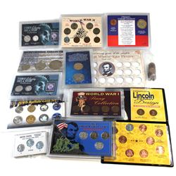 *Group Lot of USA Special Issued sets; 2005 Buffalo Set coloured/Gold-Plated, complete Lincoln Penny