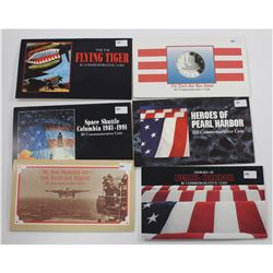 Marshall Islands Estate Collection Sets: Heroes of Pearl Harbour $10, the Torch Has Been Passed $5,