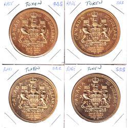 1967 Canada $20 Tokens issued Sudbury, Ontario. 4pcs