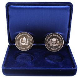 25th Anniversary of Queen Elizabeth II Accession to the throne Medallions. Both medals have been iss