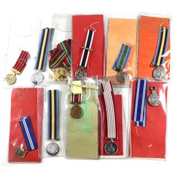 Miniature Medals Estate Lot, great mixture mostly all different. 15pcs. Includes The Gulf and Kuwait