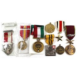World Military Medals and such. Please view image for items. 8pcs