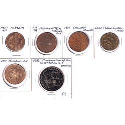 Estate Lot of Canada Tokens - 1905-1955 Alberta Golden Jubilee, 1919-1969 Township of Teck, Kirkland