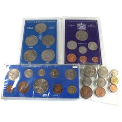 Estate Lot of Various Great Britain Coin Sets. You will receive a 1953 9-coin set, 1953 10-coin set,