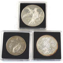 1972 Cayman Islands $1, 1974 British Virgin Islands $1 & 1976 British Virgin Islands 50-cent (coins