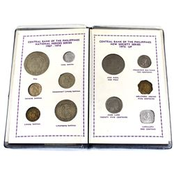 Philippines Stamp and Coin Sets in Blue Folder. You will receive 1967-1974 'National Heroes Series'