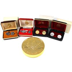 Lot of Royal Canadian Mint Commemorative Items. You will receive a pair of Sterling Silver cufflinks
