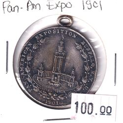 Token 1901 Pan-American Exposition, Buffalo N.Y. This Silver Medallion featured the Niagara Falls on