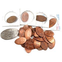 Group Lot of 30x Commemorative Pinch Pennies and 1x USA 50-cent Pinch Commemorating Independence day