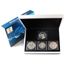 2014 Official Coins of the Fifa World Cup Silver Coin Collection. Please note capsules are lightly s