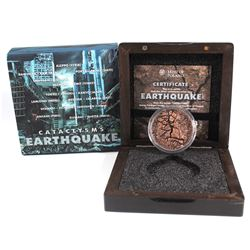 2017 Fiji $2 1 oz. Antique Finish Silver Earthquake Nepal Cataclysms (Tax Exempt)