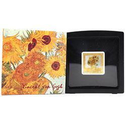 2019 Niue 1oz $1 Treasures of the world painting - Vincent Van Gogh's Sunflowers (Tax Exempt)