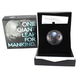 2019 Australia Mint $5 Coloured 50th Anniv. of the Apollo 11 Moon Landing Fine Silver Coin (Tax Exem