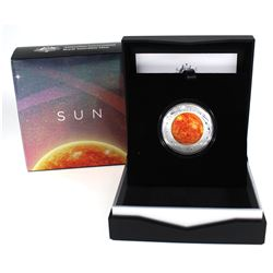 2019 Australia Mint $5 Coloured Fine Silver Proof Domed coin - The Earth & Beyond Series - Sun (Tax