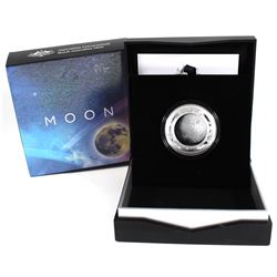 2019 Australia Mint $5 Coloured Fine Silver Proof Domed coin - The Earth & Beyond Series - Moon (Tax