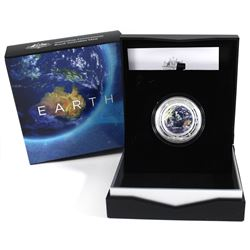 2019 Australia Mint $5 Coloured Fine Silver Proof Domed coin - The Earth & Beyond Series - Earth (Ta
