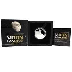 2019 Perth Mint 1oz 50th Anniversary of the Moon Landing Proof Silver Coin (Tax Exempt)