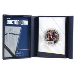 2017 BBC Doctor Who Season 10, 1oz Fine Silver Coin (Tax Exempt)