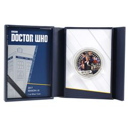 2017 BBC Doctor Who Season 10, 1oz Fine Silver Coin (Tax Exempt)