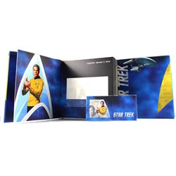 2018 Niue $1 Star Trek - Captain Kirk 5g Silver Coin Note with Collector's Album (Tax Exempt)