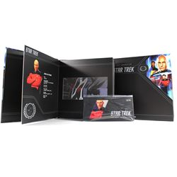 2019 Niue $1 Star Trek: Next Generation - Jean Luc Luc Picard 5g Silver Coin Note with Collector's A