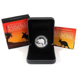 2011 Australia $1 High Relief Kangaroo 1 oz. Silver Coin (TAX Exempt)