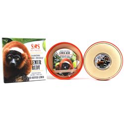 2014 Niue $1 Red Ruffed Lemur - S.O.S. Endangered Animal Species 1/2 oz. Proof Silver Coins with Swa