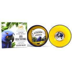 2014 Niue 1$ Hyacinth Macaw - S.O.S. Endangered Animal Species 1/2oz. Proof Silver Coin (Tax Exempt)