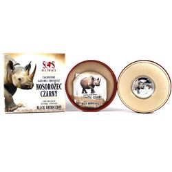 2014 Niue 1$ Black Rhinoceros - S.O.S. Endangered Animal Species 1/2oz. Proof Silver Coin (Tax Exemp