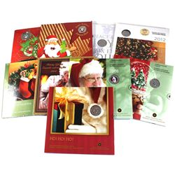 Group Lot of 9x Royal Canadian Mint Holiday Gift sets in original displays. Lot includes: 2004, 2005