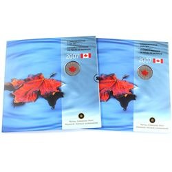 Both Magnetic & Non Magnetic 1-cent Varieties in 2007 Royal Canadian Mint Oh Canada Gift sets, both