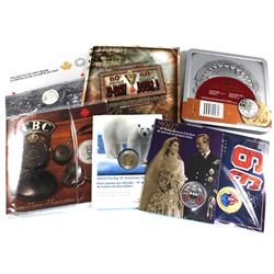 Grab Bag of 7x Royal Canadian Mint Commemorative Coins and Sets. 7pcs