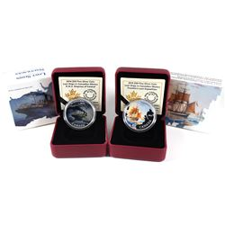 2014-2015 Canada $20 Lost Ships in Canada Waters Fine Silver Coins (Tax Exempt). You will receive: 2