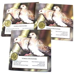 Royal Canadian Mint Issue: 2014 $1 Dollar Two Turtle Doves Special Edition Collector issued coins. 3