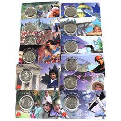 12x 2000 Millennium RCM 25-cents Coloured Collector Card Set. 12pcs
