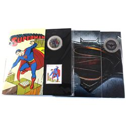 2013 Canada 50-cent Superman: Then and Now Lenticular Coin & Stamp Set & 2016 25-cent Batman VS Supe