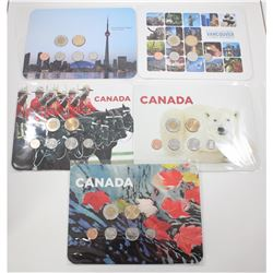 2010-2011 Canada 6-coin Collector Year Sets. You will receive 3x 2010 sets, and 2x 2011 Sets each in