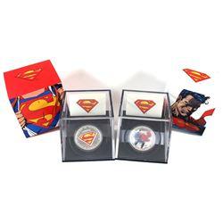 2013 Canada $20 Superman - Man of Steel & 2013 $20 Superman's Shield Fine Silver Coins. 2pcs (TAX Ex