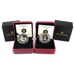 2013 Canada Ducks of Canada - Mallard Fine Silver & Cupronickel Coins. 2pcs (TAX Exempt)